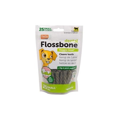 BARRA DENTAL PETKIN FLOSSBONE VEG S 25 PCS