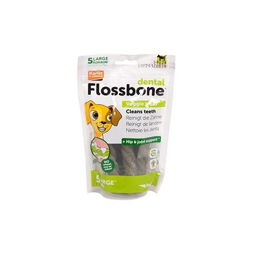 BARRA DENTAL PETKIN FLOSSBONE VEG L 5 PCS
