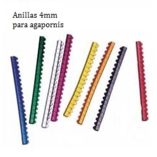 ANILLA METALICA AGAPORNIS 4 MM 20 UND