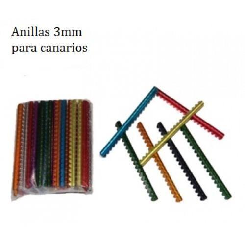 ANILLA METALICA CANARIOS 3 MM 20 UND
