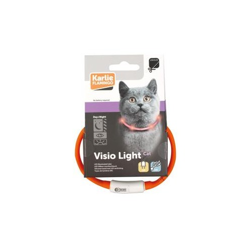 COLLAR LED VISIO LIGHT ROSA GATO