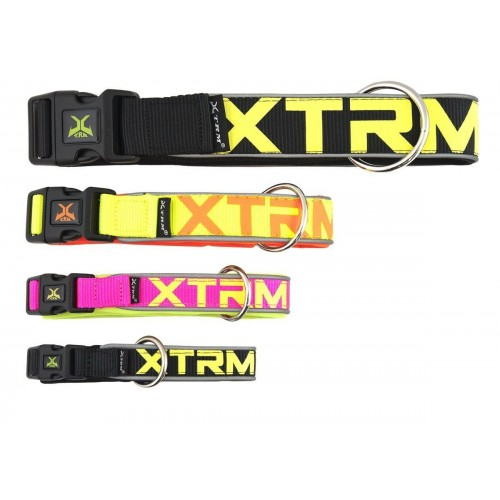 COLLAR X-TRM NEON FLASH NEGRO 1.5x28-35 CM