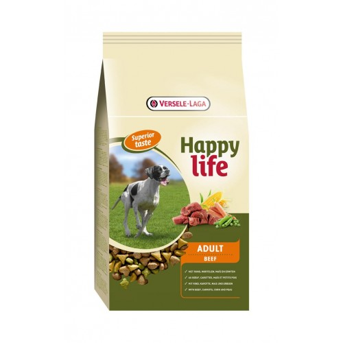 HAPPY LIFE ADULT BEEF 15 KG