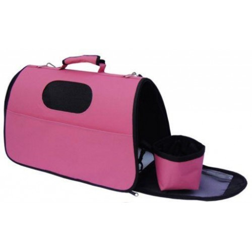 BOLSO TRANSPORTIN CARRIER ROSA XS 36x23x23 CM