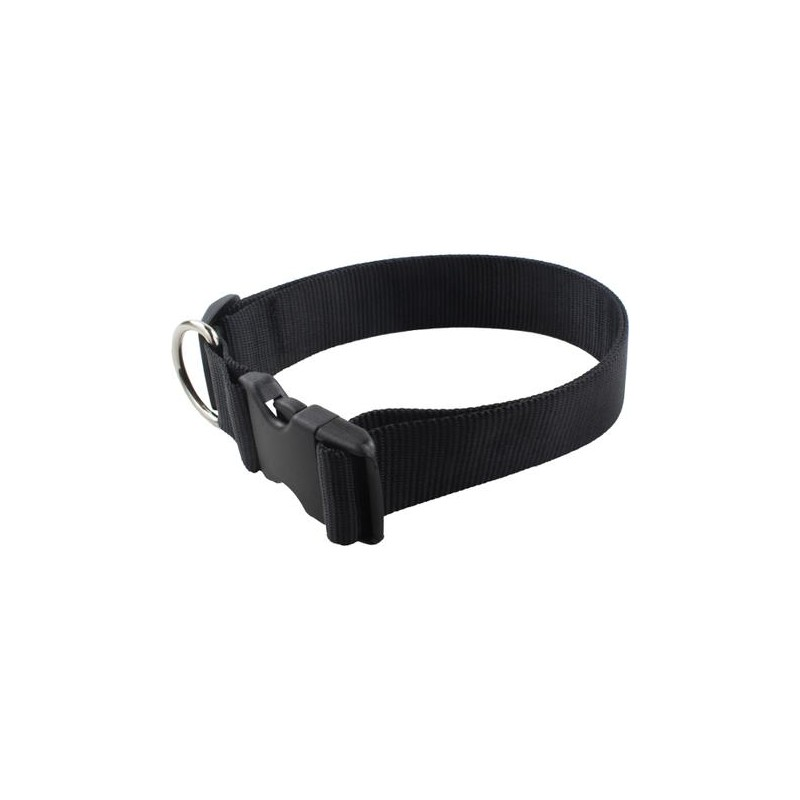 COLLAR NYLON BASIC T.75 4x46-82 CM NEGRO