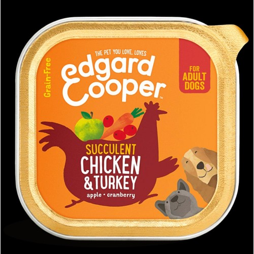 EDGARD COOPER TARRINA CHICKEN/TURKEY 150 GR ADULTO