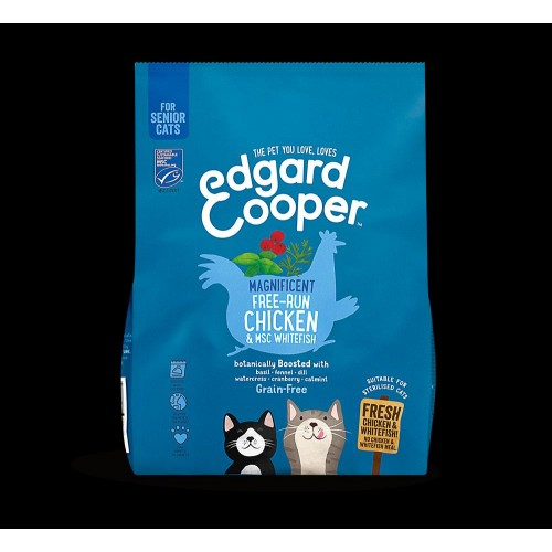 EDGARD COOPER CAT CHICKEN/WHITEFISH 300 GR SENIOR