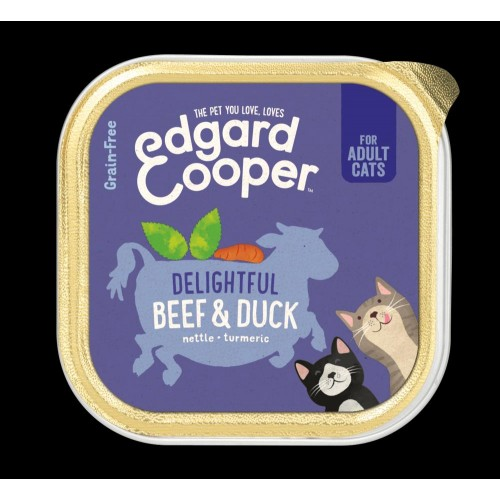 EDGARD COOPER TARRINA BEEF/DUCK 85 GR ADULTO