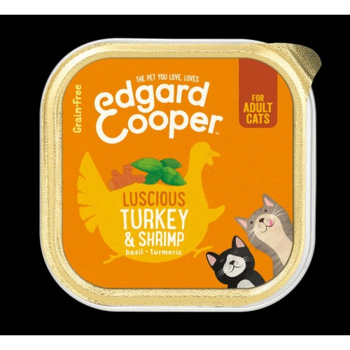EDGARD COOPER TARRINA TURKEY/SHRIMP 85 GR ADULTO