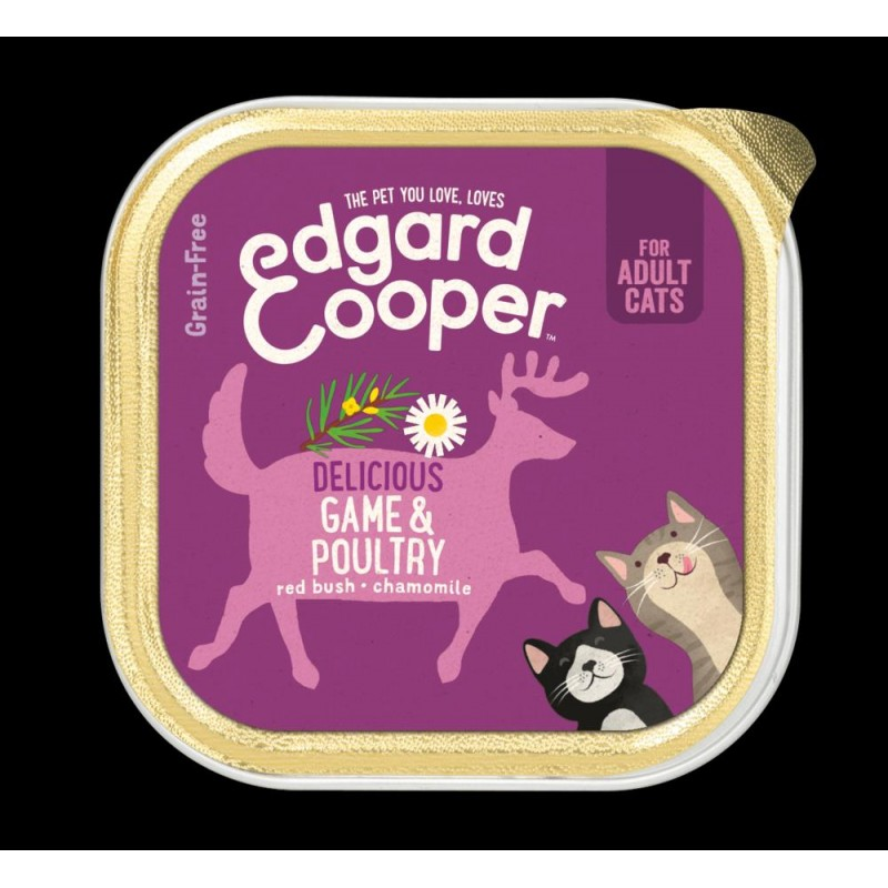 EDGARD COOPER TARRINA GAME/POULTRY 85 GR ADULTO