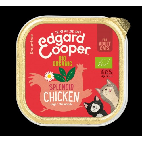 EDGARD COOPER TARRINA ORGANIC CHICKEN 85 GR ADULTO