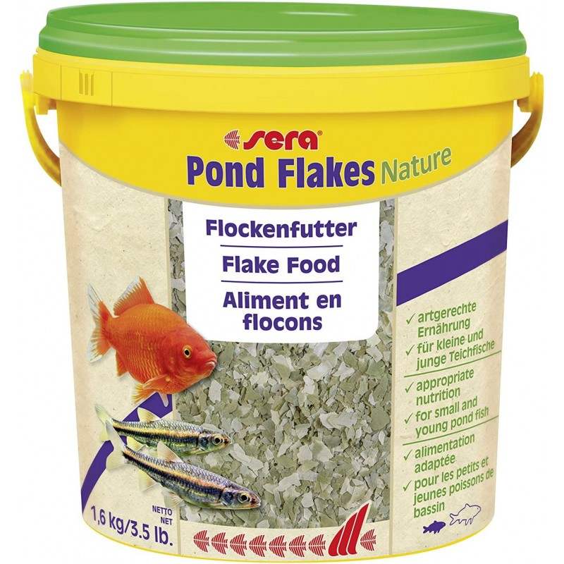 SERA POND FLAKES NATURE 10 LT. 1.6 KG