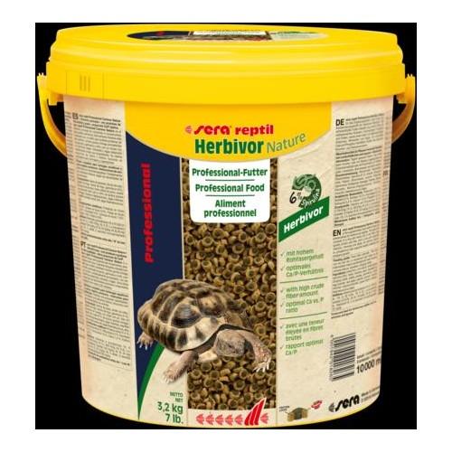 SERA REPTIL HERBIVOR NATURE 10 LT 3,2 KG