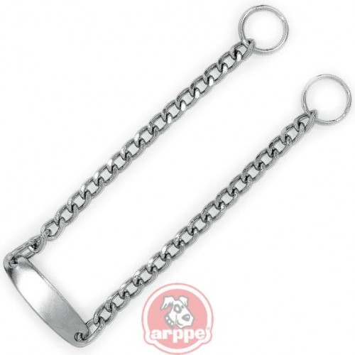 COLLAR METAL CON PLACA 45CM