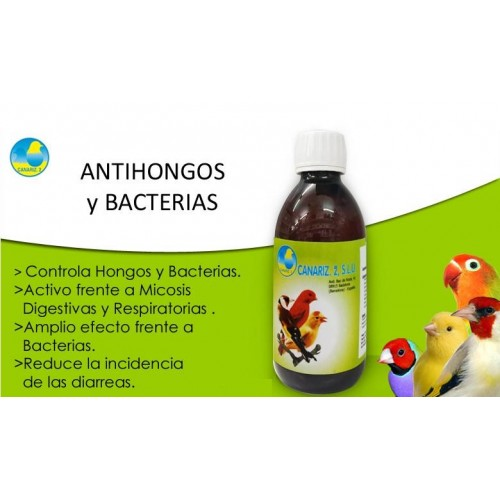 ANTIHONGOS Y BACTERIAS 250 ml CANARIZ