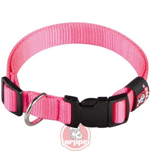 COLLAR NYLON BASIC T.25 1.5x21-32 CM FUCSIA