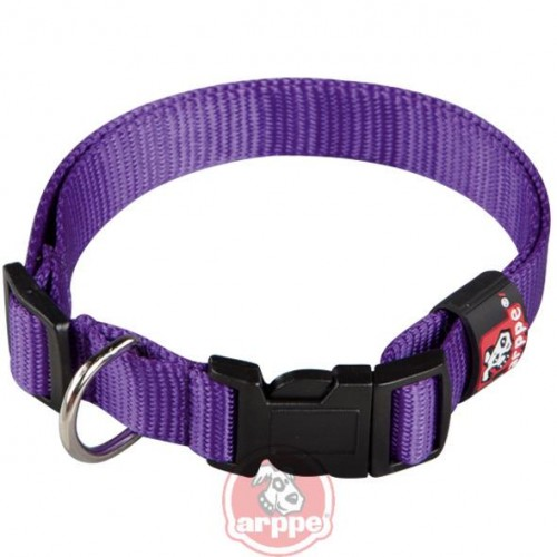 COLLAR NYLON BASIC T.45 2.5x30-44 CM LILA